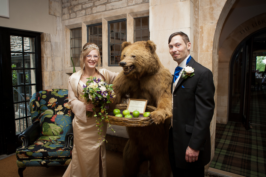 The Bear of Rodborough Wedding Photographer