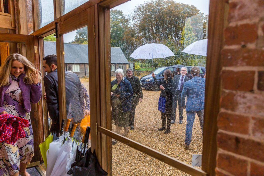 Rainy Mickleton Hills Farm Wedding